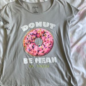Donut be mean be happy t-shirt